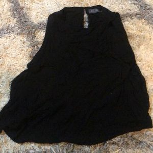 Black tank top with side cut outs